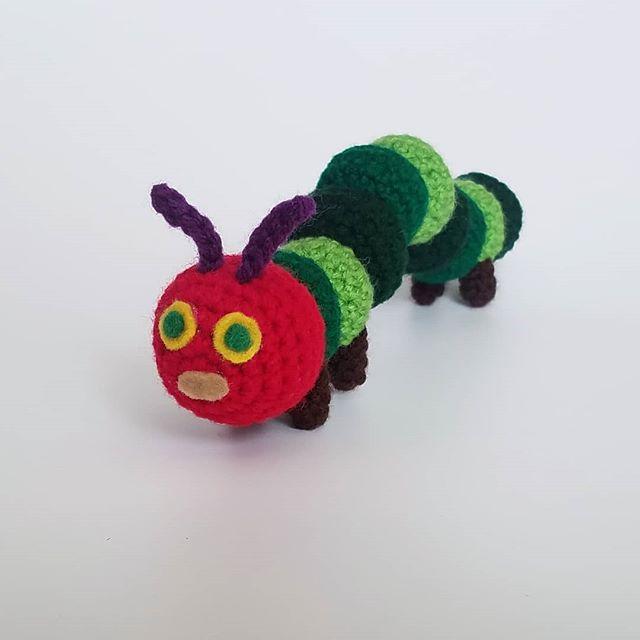 I loved getting to make this classic cutie! #theveryhungrycaterpillar . . . . #crochetbaby #crochettoys #crochetart #crochet #crocheting #crochetlove #crochetersofinstagram #handmade #crochettoy #amigurumi #crochetlife #yarn . . . #butterflies #caterpillar #caterpillartoy #ericcarl #childrensbooks #nostalgia #classic #vintage #nostalgic #gifts #happyfirstbirthday #birthdaygift #giftideas #inspiration #learnandgrow #tripleacrochet #hugsarehandmade