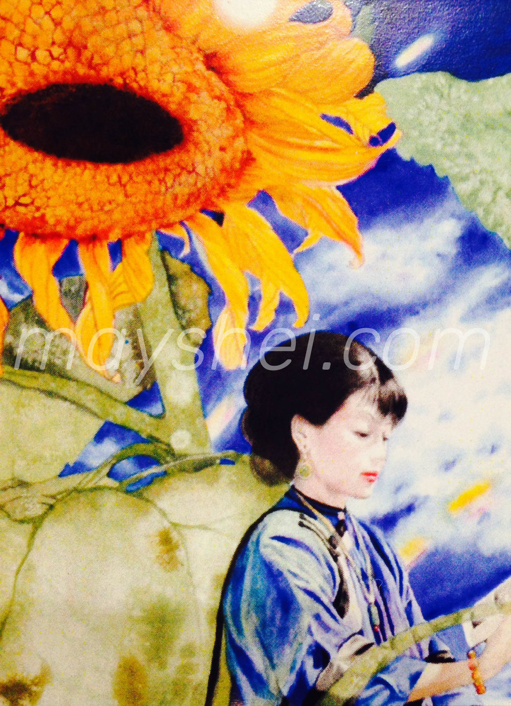 Sun Flower Lady, 太陽花仕女圖
