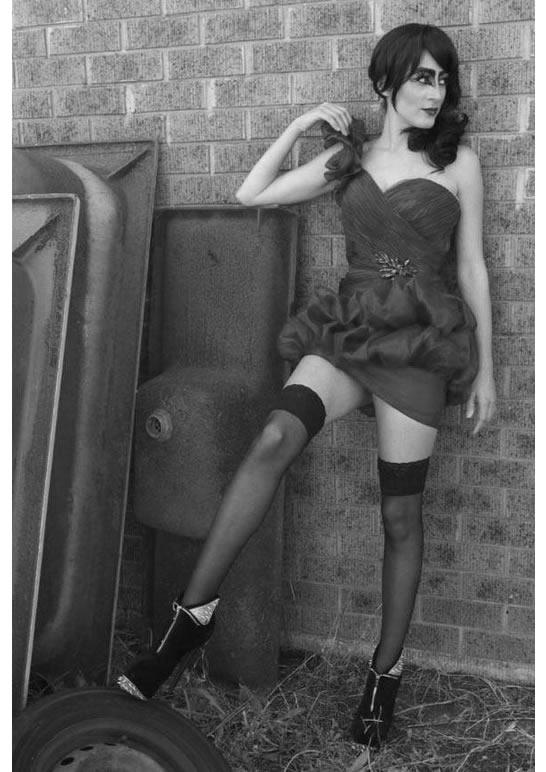 Lena Kasparian modelling.