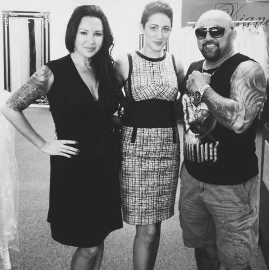 Lena Kasparian with clients Wendy and John from Bondi Ink Tattoo.