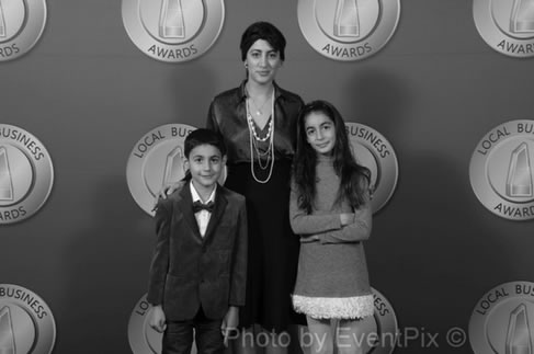 Lena Kasparian with her children.