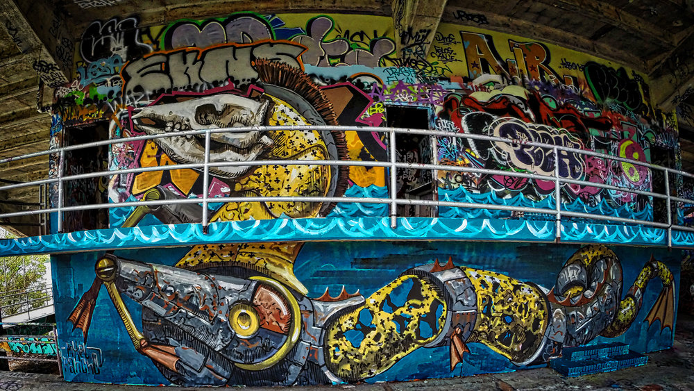 Pixel Pancho at the Miami Marine Stadium