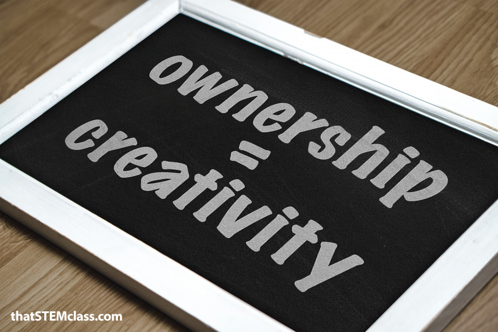 Ownership = Creativity | found at thatstemclass.com