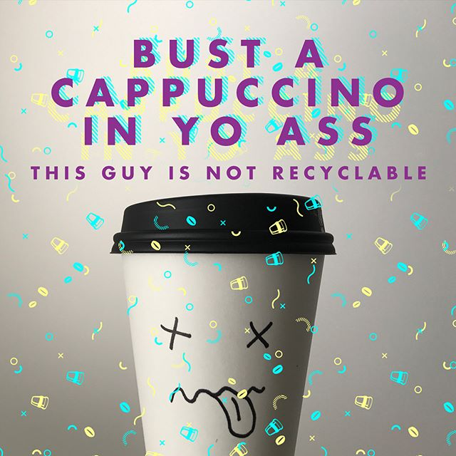 27 takeaway coffee cups go to landfill every second in Australia. Yikes. • • • #bringYo #byocoffeecup #waronwasteau #reuse #cafe #coffee