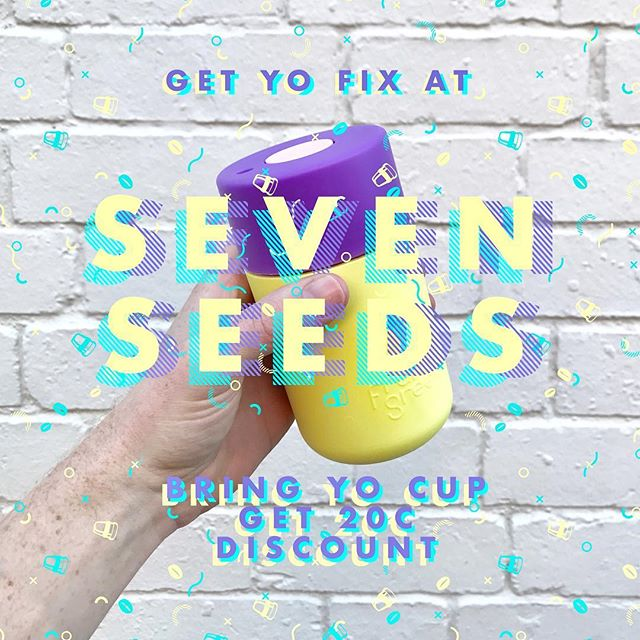Bring yo cup to @7seedscoffee  and get a discount at @7seedscarlton @hortus_7seeds @travellercoffee @brotherbababudan ⚡️download the Bring-Yo app to get more discount coffee ⚡️ • • • #discount #7seeds #cafe #brotherbababudan #travellercoffee #waronwasteau #reuse #keepcup #frankgreen #broadsheetmelb #sustainability #madeinmelbourne #hortussevenseeds