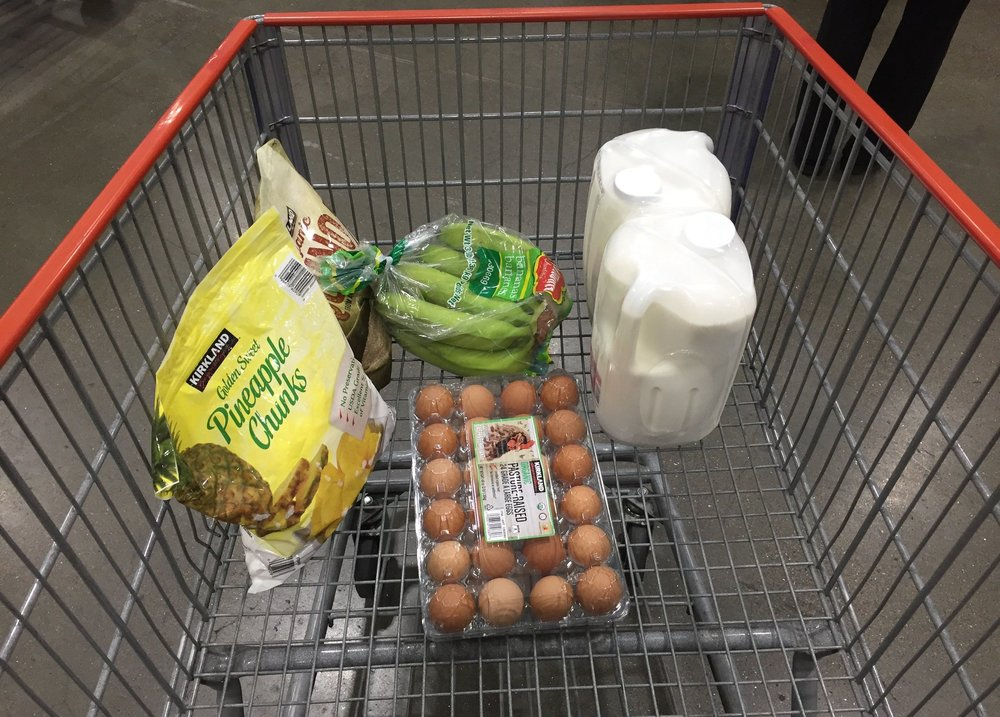 That great feeling when you've escaped Costco with just 5 items in your cart, and none of it junk food.