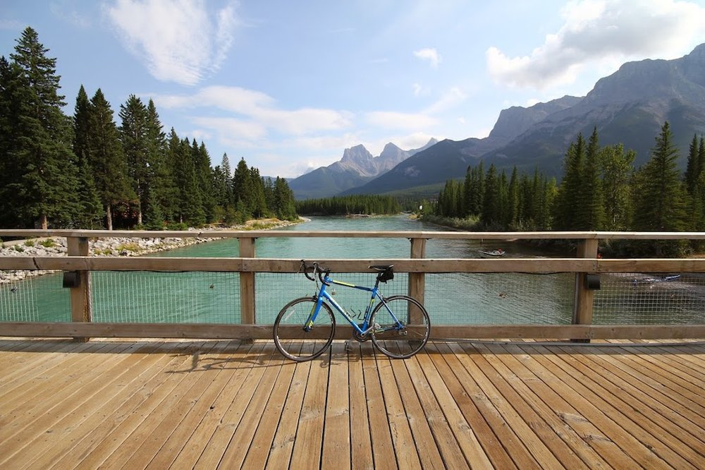 Mrs. FH and I rented bikes and went on a fun bike ride from Canmore to Banff (and back) in Aug 2014