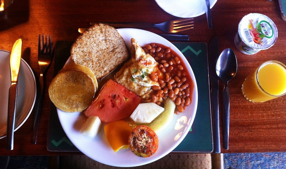 A sumptuous and healthy vegetarian breakfast