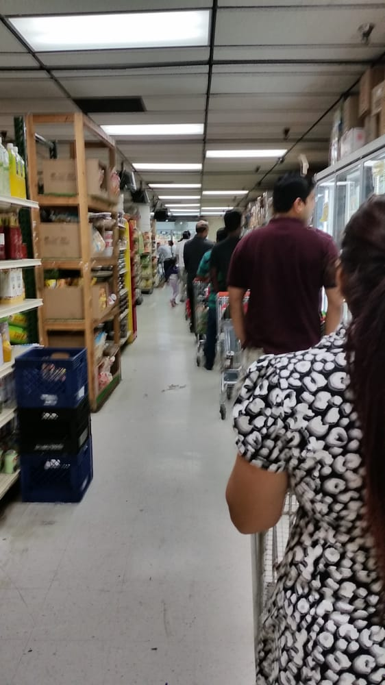 The checkout line at the SunnyvaleIndia Cash & Carry grocery store. Photo from  Yelp