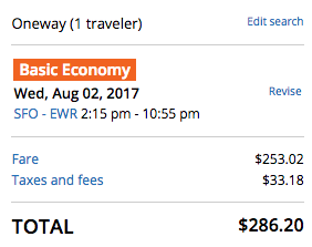 Regular Ticket from United.com