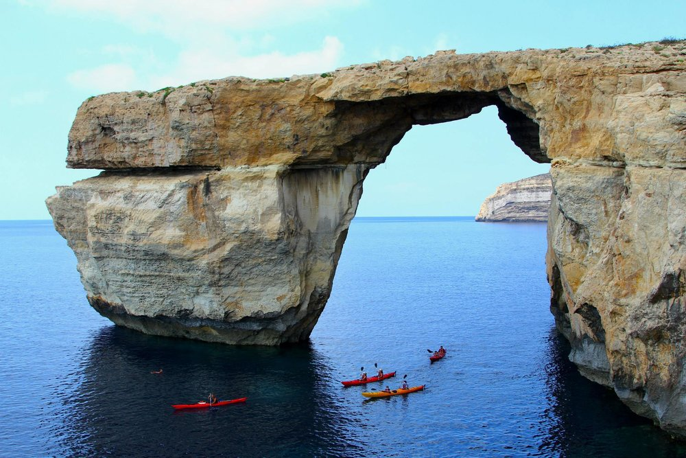 Azure Window in Malta. Sadly, this stunning natural structure collapsed in March 2017 :(