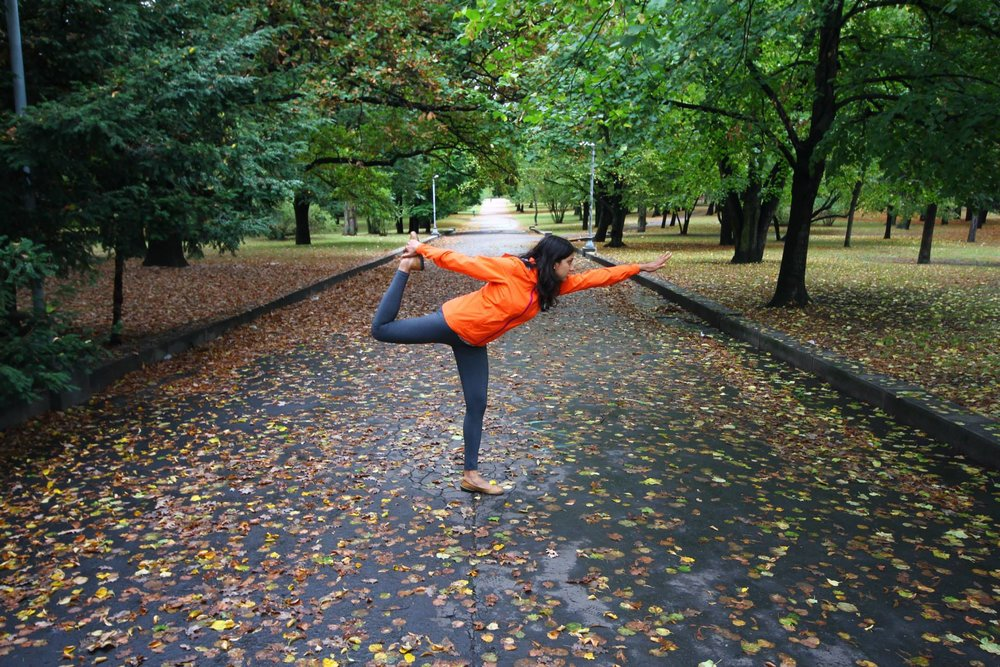 Full-time Frugal Travel Warrior, part-time Wannabe Yogi. As seen in a beautiful (free) city park in Prague.