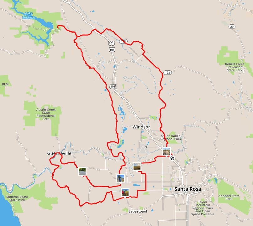 100 mile bicycle ride from Santa Rosa - Wine Country Century