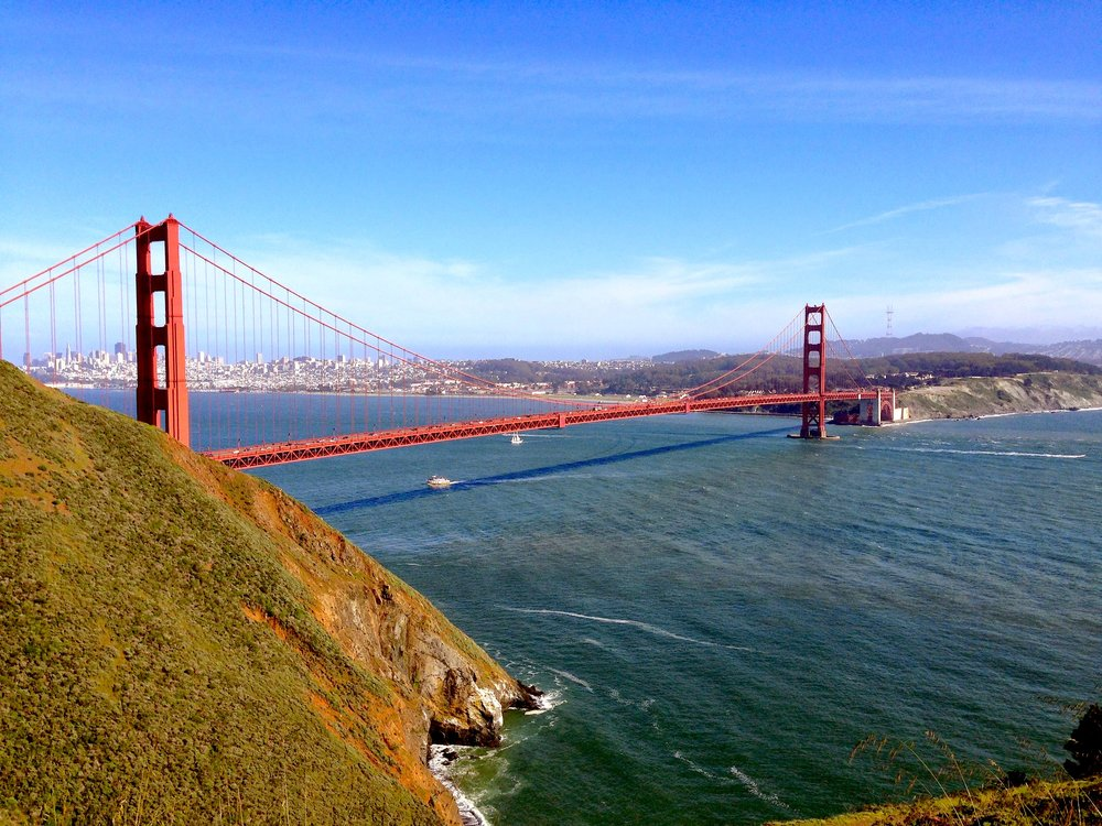 My favorite spot to see the bridge: Top of Hawk Hill
