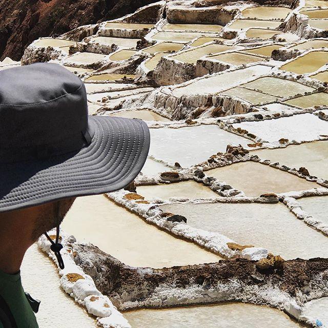 Salt Mines in Peru 🇵🇪 #travel #peru #frugaltravel #salineras