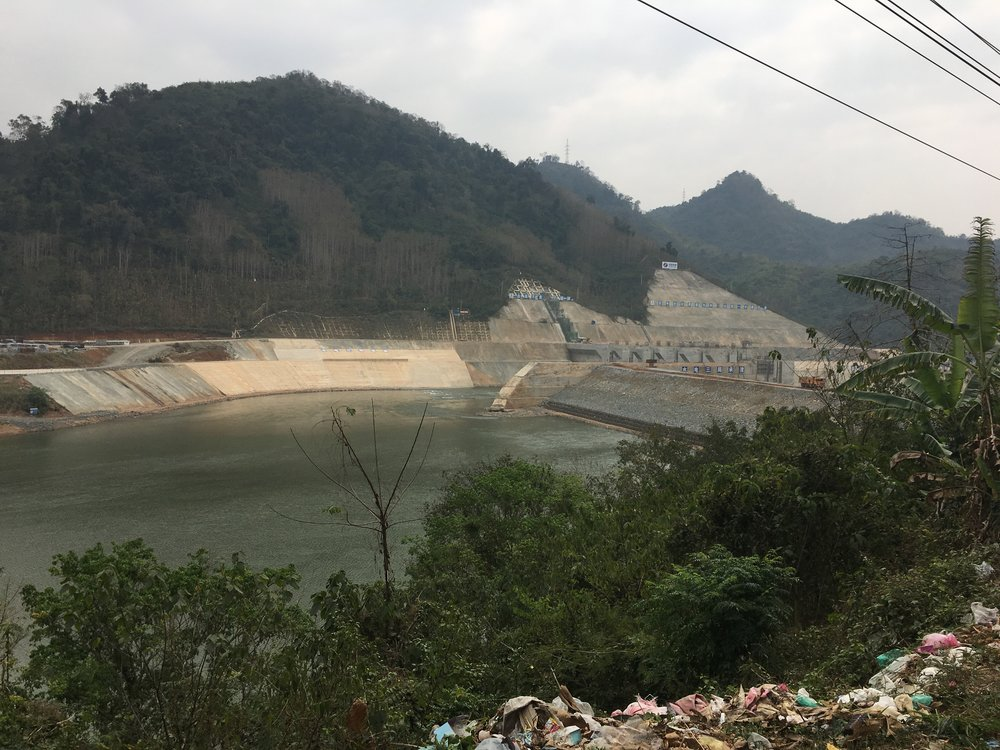 One of the 7 Dams being built in Northern Laos by the Chinese.