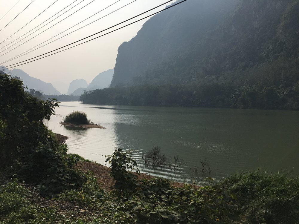 This picture doesn't do the landscape justice. The entire 30km's to Nong Khiaw was along the river and it was stunning.