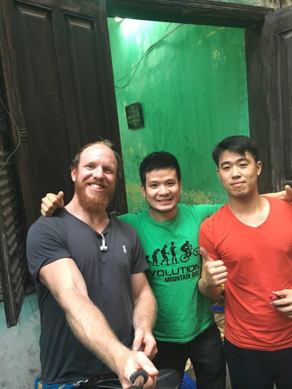 Friendly bike guys in Hai Phong