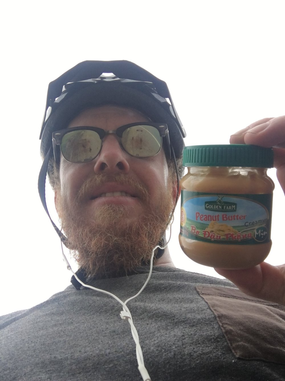Peanut butter, perfect for a quick energy boost on the move!