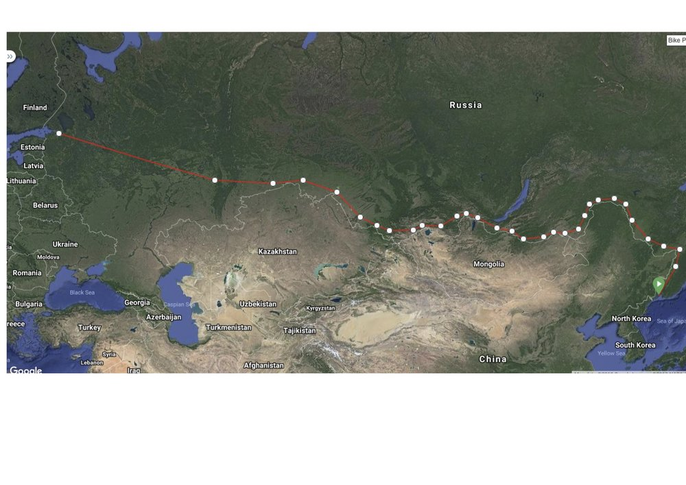 Trans Siberian Railway from Vladivostok - St Petersburg