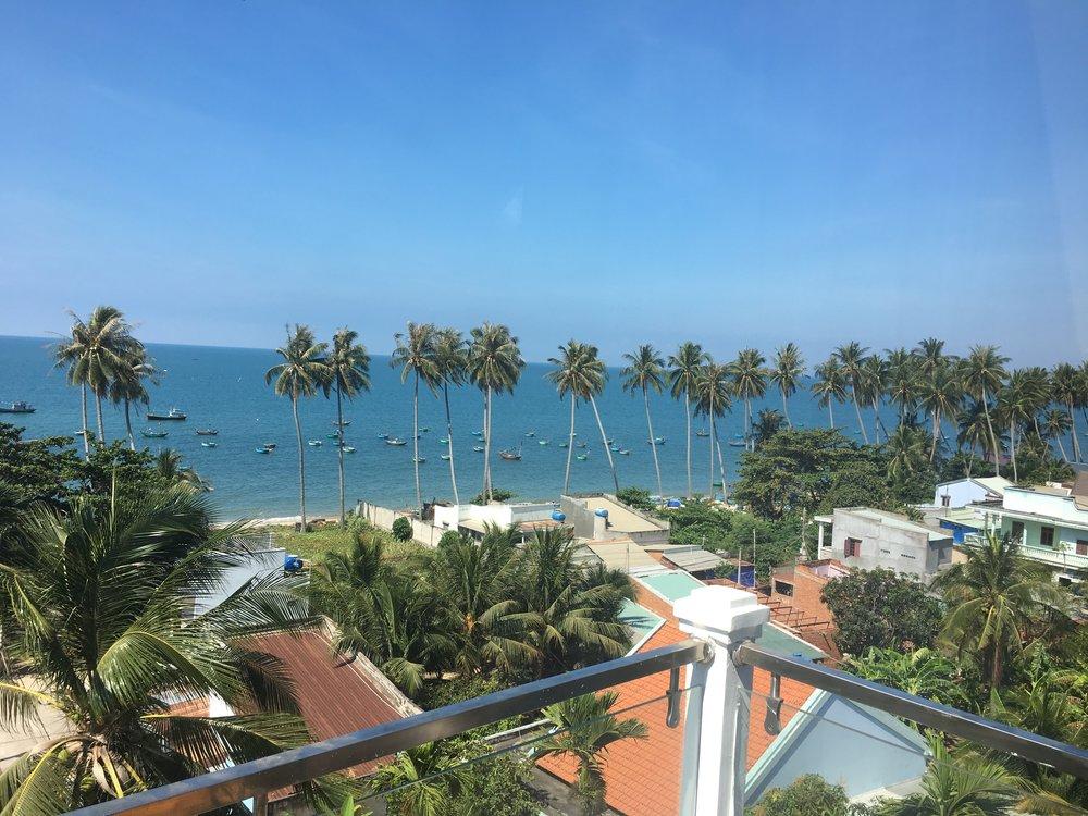Beautiful view from my balcony in Mui Ne.