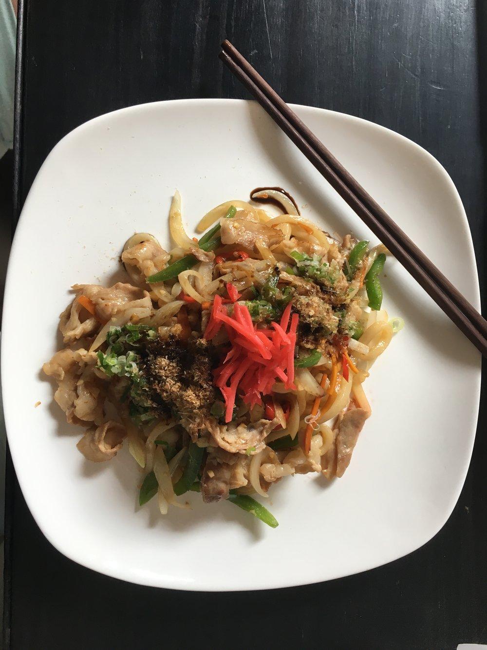 Japanese Restaurant not on the list, but tasty Yaki Udon