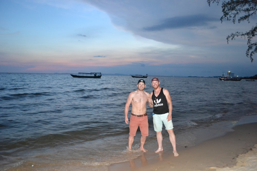 Joe from England and I on Otres beach. Nice chap.