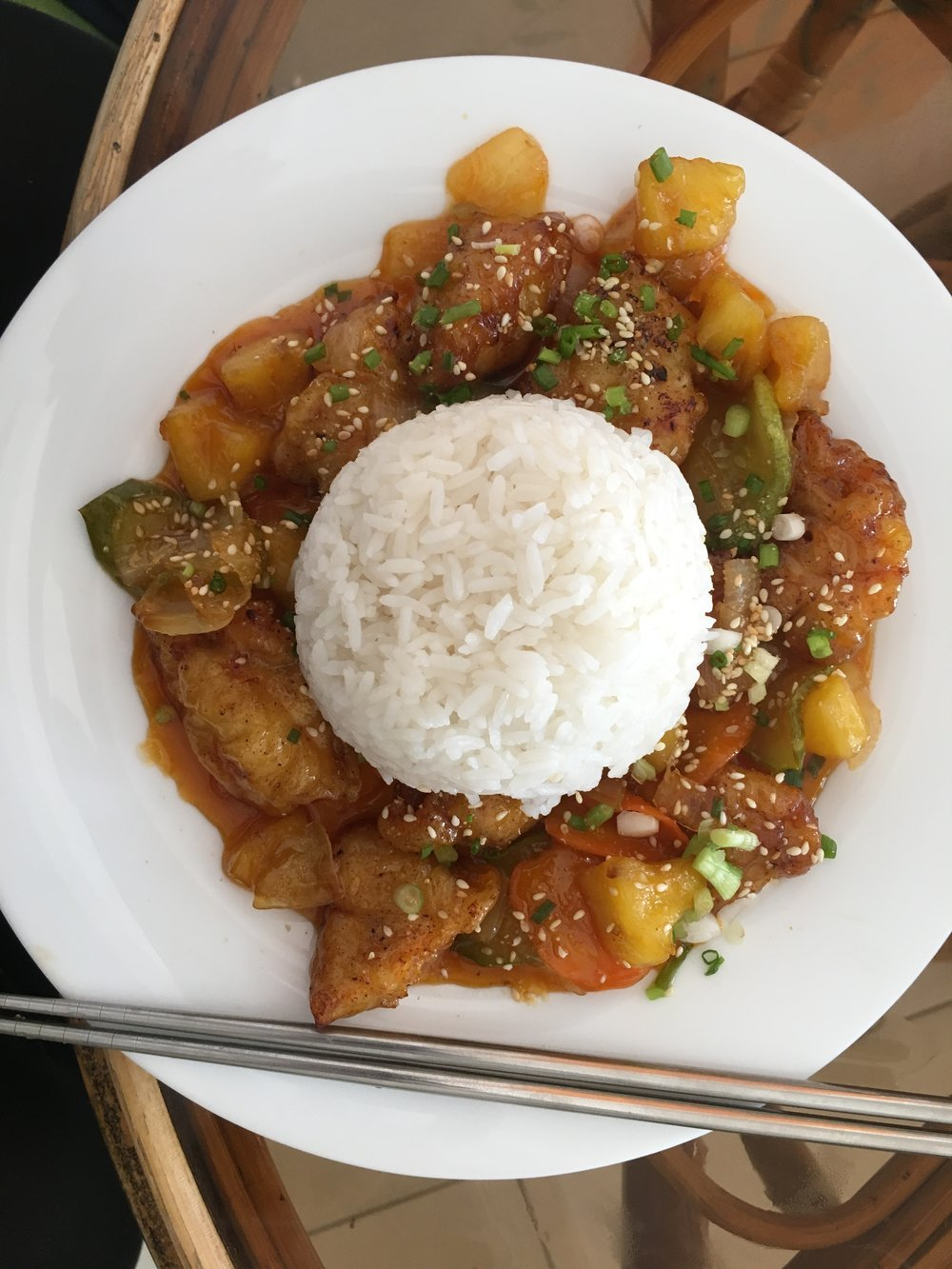 Kimchi - Sweet and sour chicken