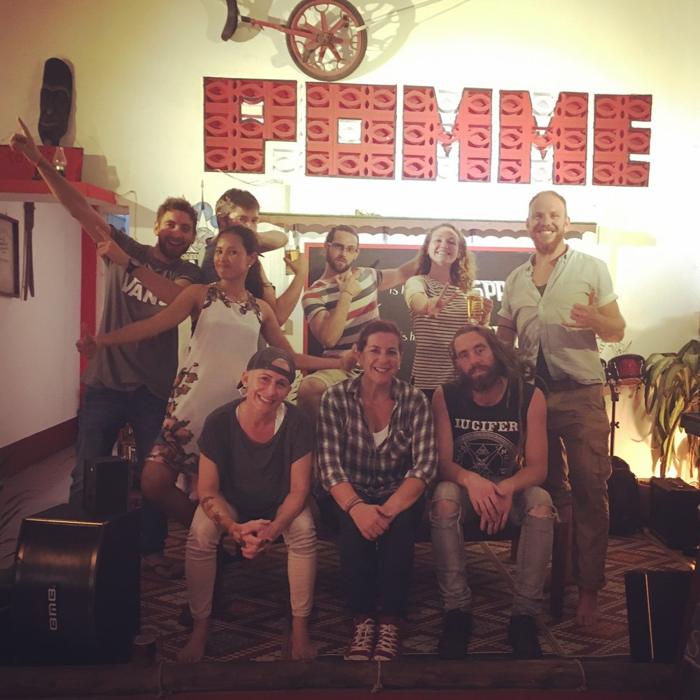 The awesome Pomme dudes. (From Back Left) Johnny, Dom, Oli, Victoria, Moi, (Middle) Bopha, (Bottom Left - Right) Roxanne, Lana, Sam . Time well spent.