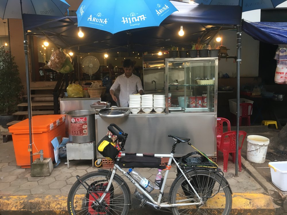 The clean street food stall and a half dressed Surly Temple