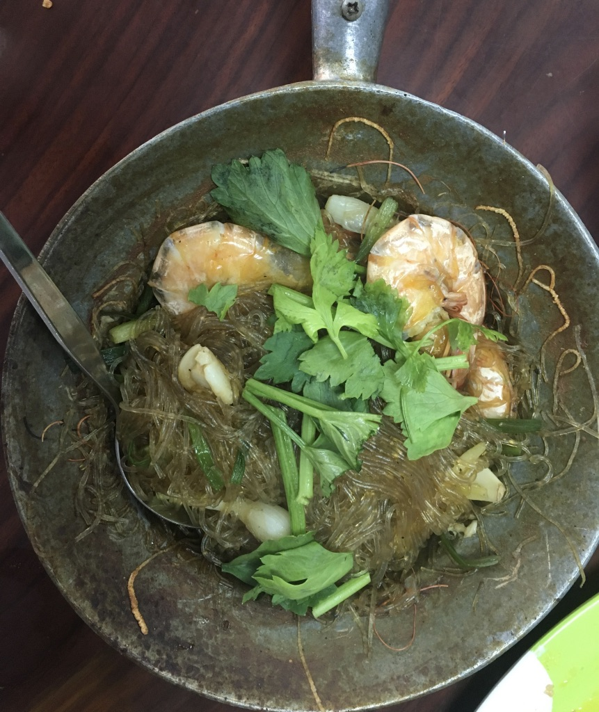 Glass noodles with prawns
