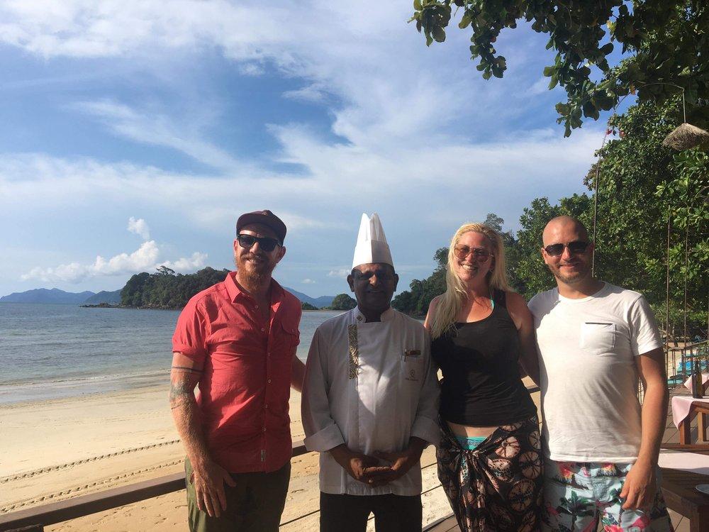 Chef Sankaran, Jess, Mark and I