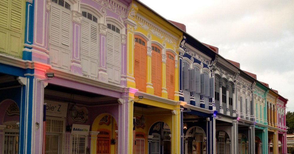 The colourful streets of Penang, Malaysia.