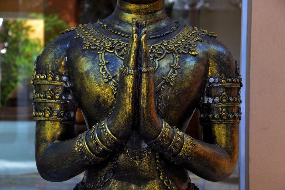 Namaste Mudra Buddha Statue