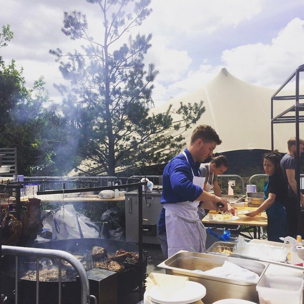 CRAFT LONDON Craft restaurant will operate it's custom-built fire-pit at SAMPLE serving flatbreads filled with house pickles, salted yoghurt and slow-cooked meat & vegetables - all sourced from the best UK suppliers and cooked by Chef Ana Garcia Cortes and her team.
