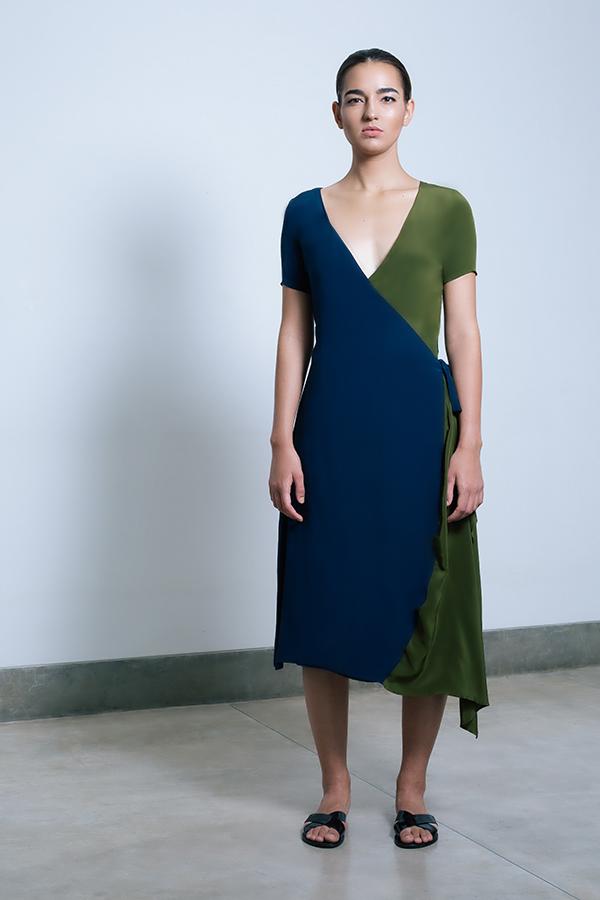 Shaana Wrap Dress Midnight blue_Olive.jpg