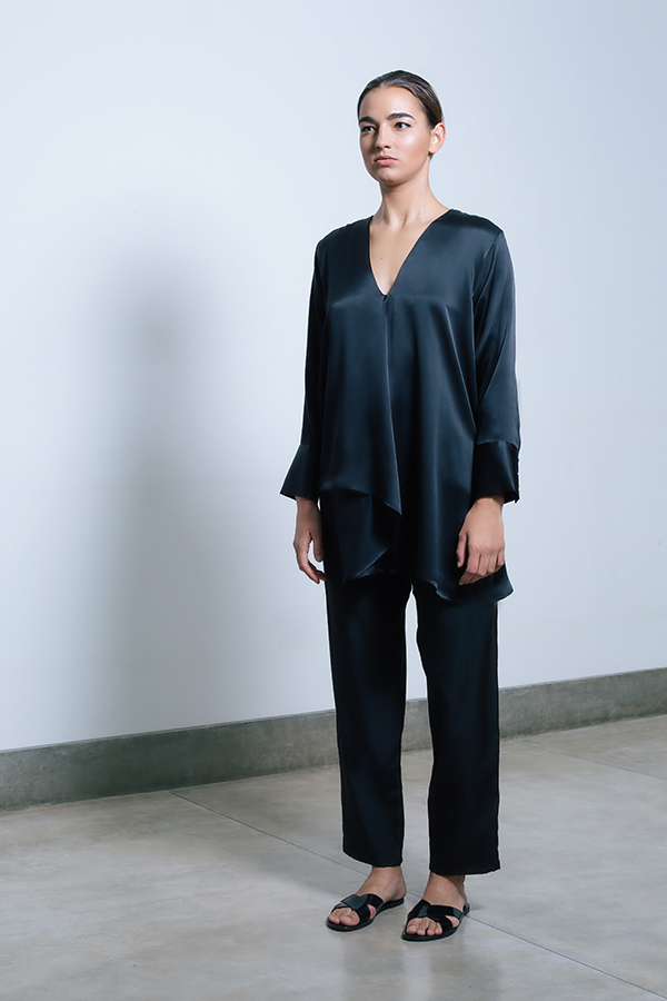 Tareeni Origami blouse & Tareeni wide leg pants - black.jpg