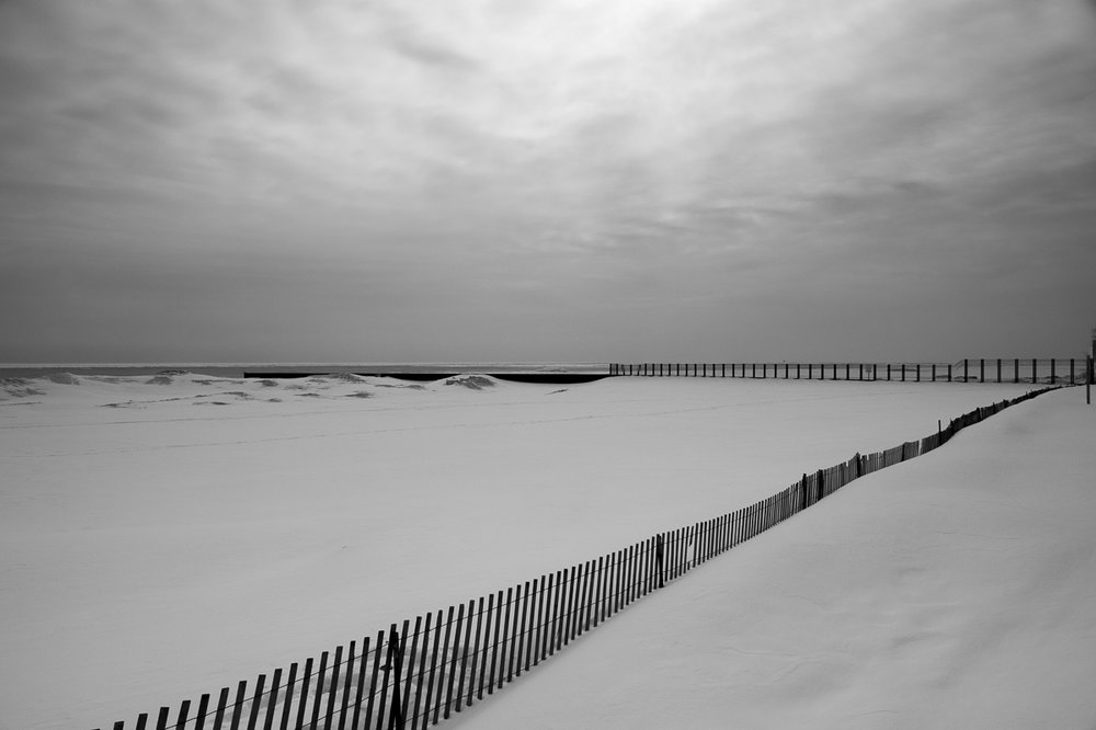 Ted Glasoe_Lake in Gray_Snow Fence.jpg