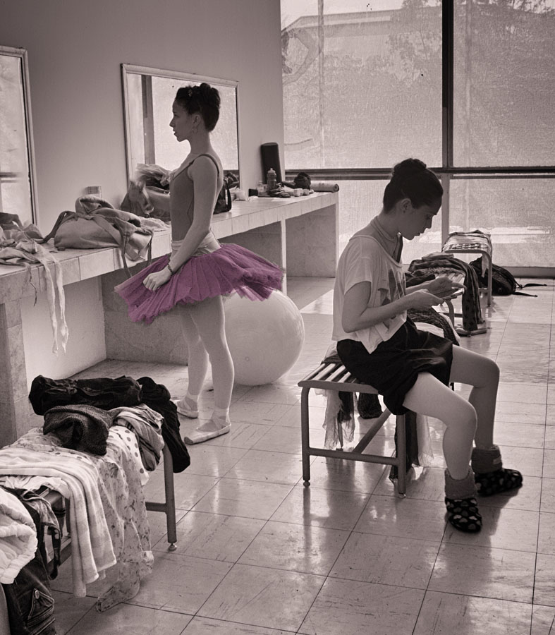Jill Flyer_Ballet Series 2 B and W D_ At the Mirror.jpg