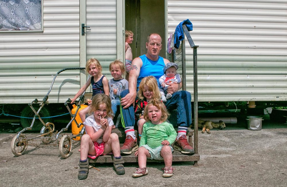 MicheleZousmer-Hidden In Plain View. Irish Traveller family living on side of road. 1.jpg