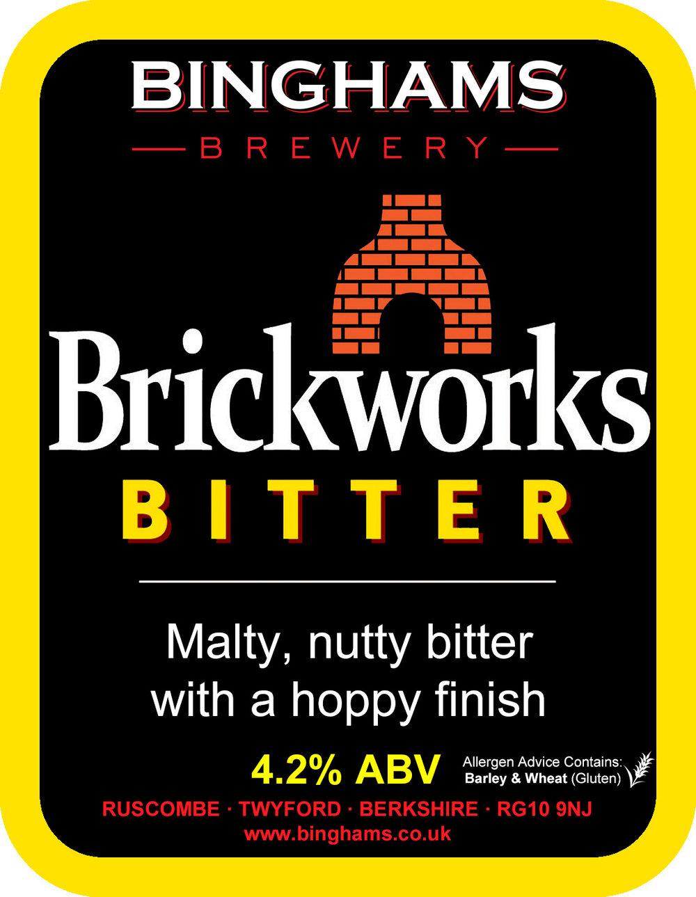 BRICKWORKS BITTER 4.2% ABV