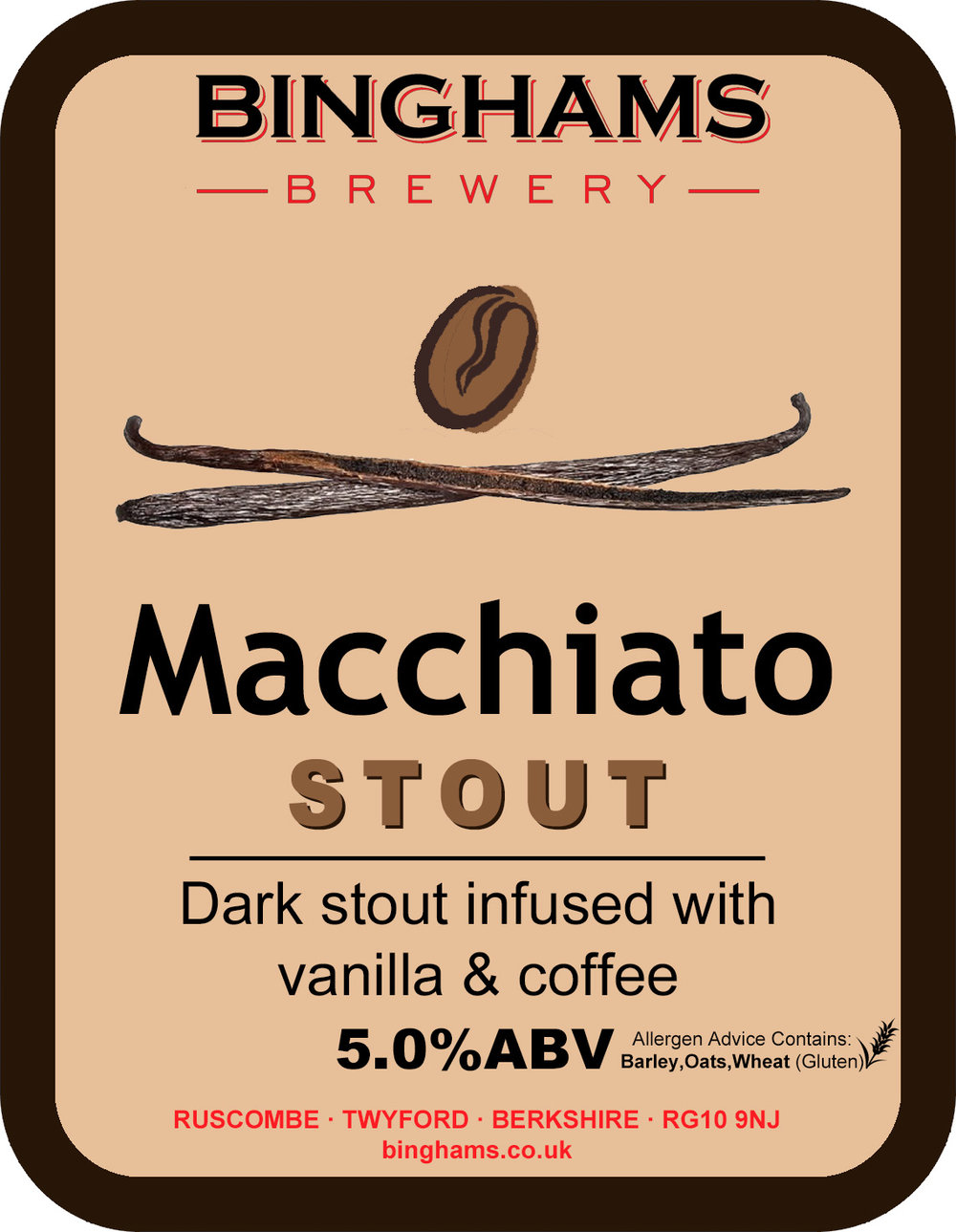 MACCHIATO STOUT 5.0% ABV - Vegan friendly
