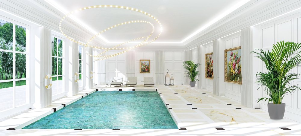 INDOOR POOL & LOUNGE AREA