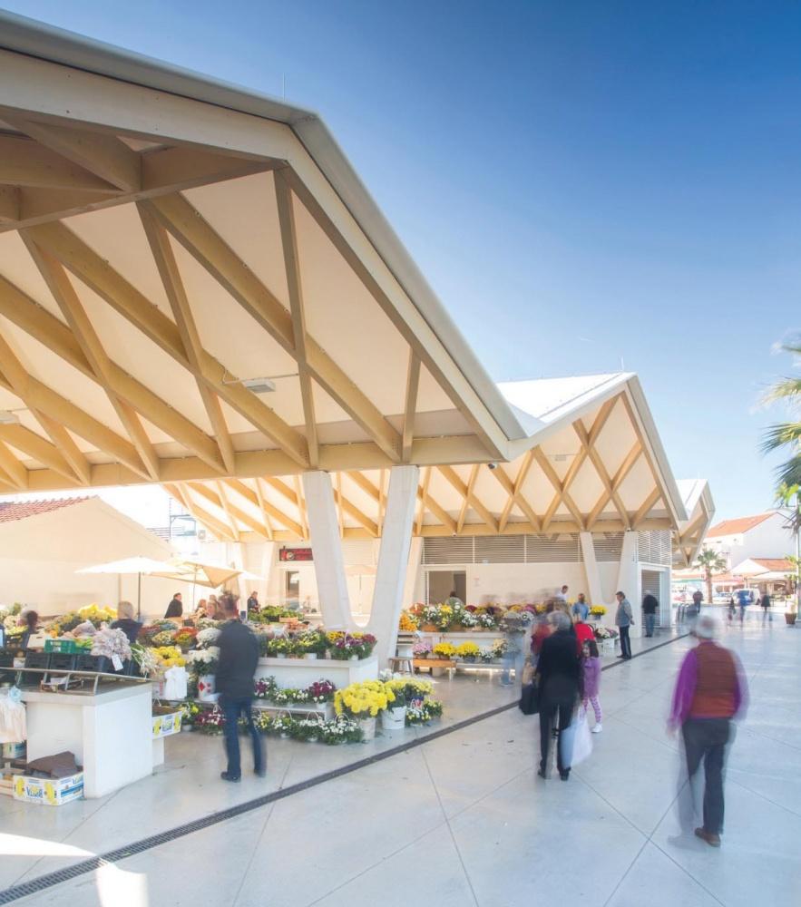 Le nouveau marché de Vodice © Damir Zizic, 2015