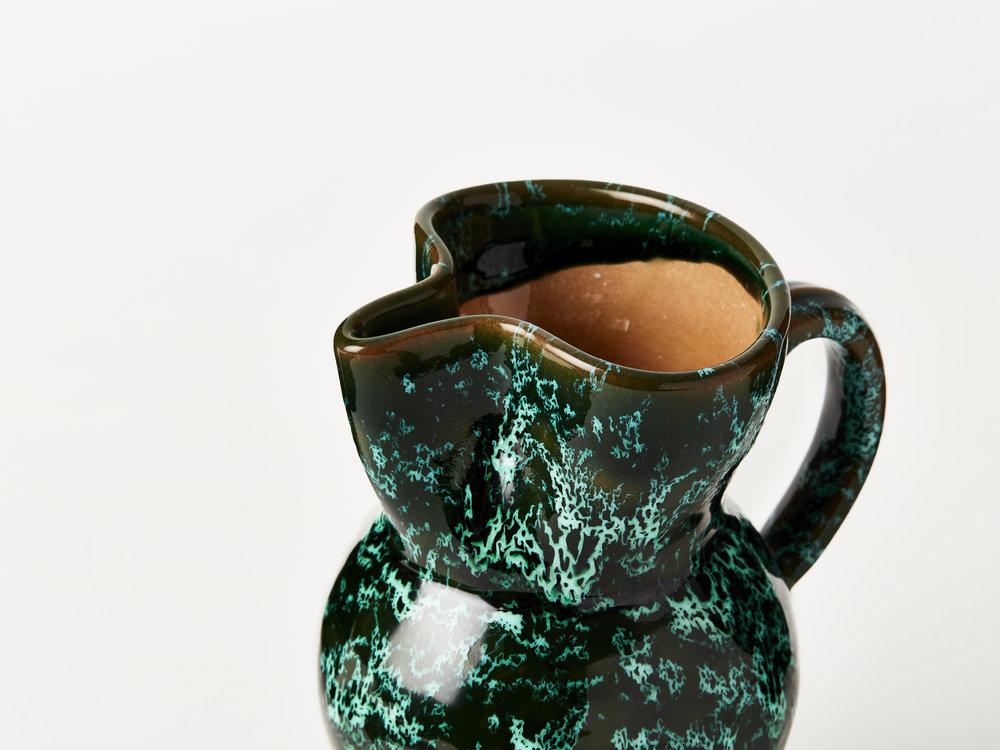 Emma Cerasulo_Splatter Ceramic Jug Green_Front.jpg