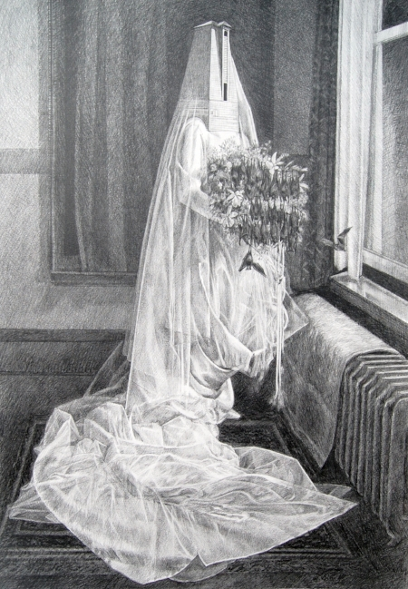 La Conquista   2011, Graphite on Bristol paper, Image Size: 23.5 x 17.5 inches.