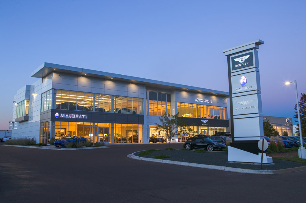 Maserati- Golden Valley, MN. Signage_Dusk-2.jpg