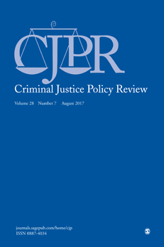 Criminal Justice Policy Review (CJPR) is a multidisciplinary journal publishing articles written by scholars and professionals committed to the study of criminal justice policy through experimental and nonexperimental approaches. CJPR is published quarterly and accepts appropriate articles, essays, research notes, interviews, and book reviews. It also provides a forum for special features, which may include invited commentaries, transcripts of significant panels or meetings, position papers, and legislation. To maintain a leadership role in criminal justice policy literature, CJPR will publish articles employing diverse methodologies. - Editor: Daniel R. Lee, Ph.D.