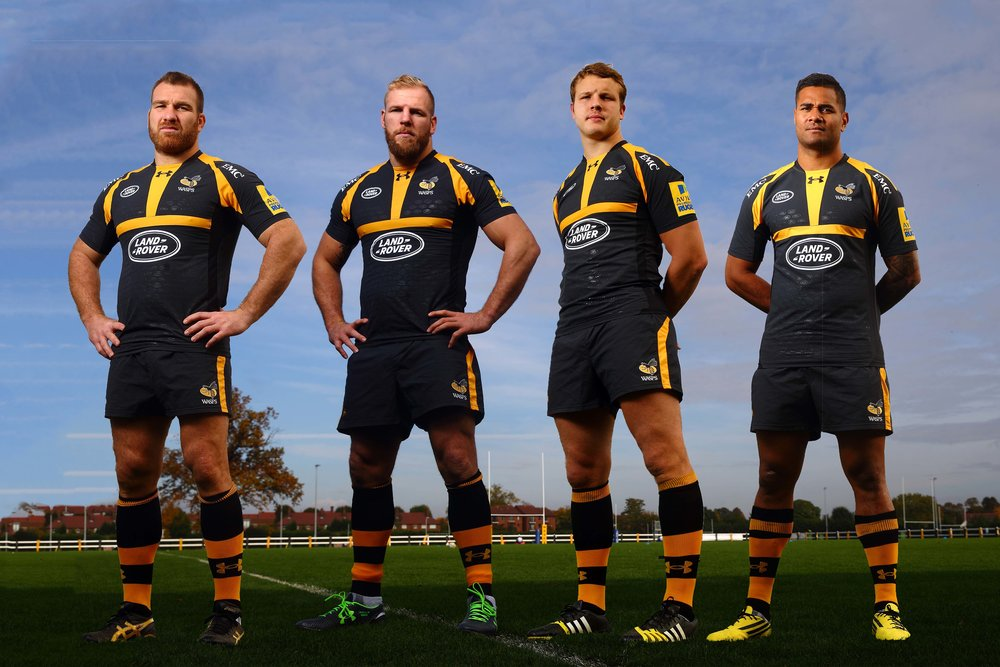 Some of the Wasps team