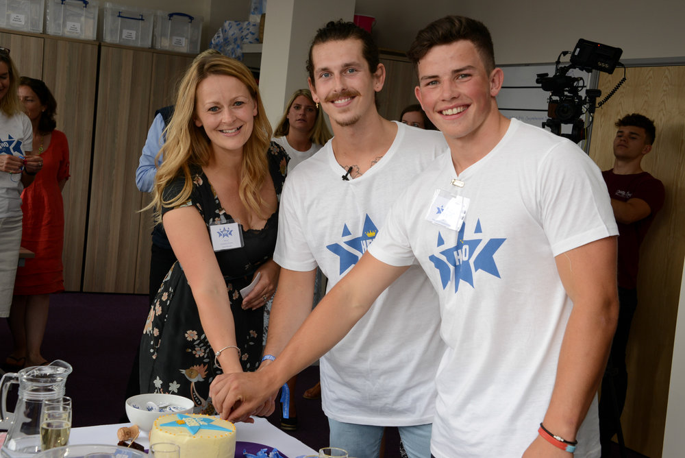 Charity co-founder Wendy Tarplee-Morris with ambassadors Regan Walker and Will Butler. Photographer: James Maggs.